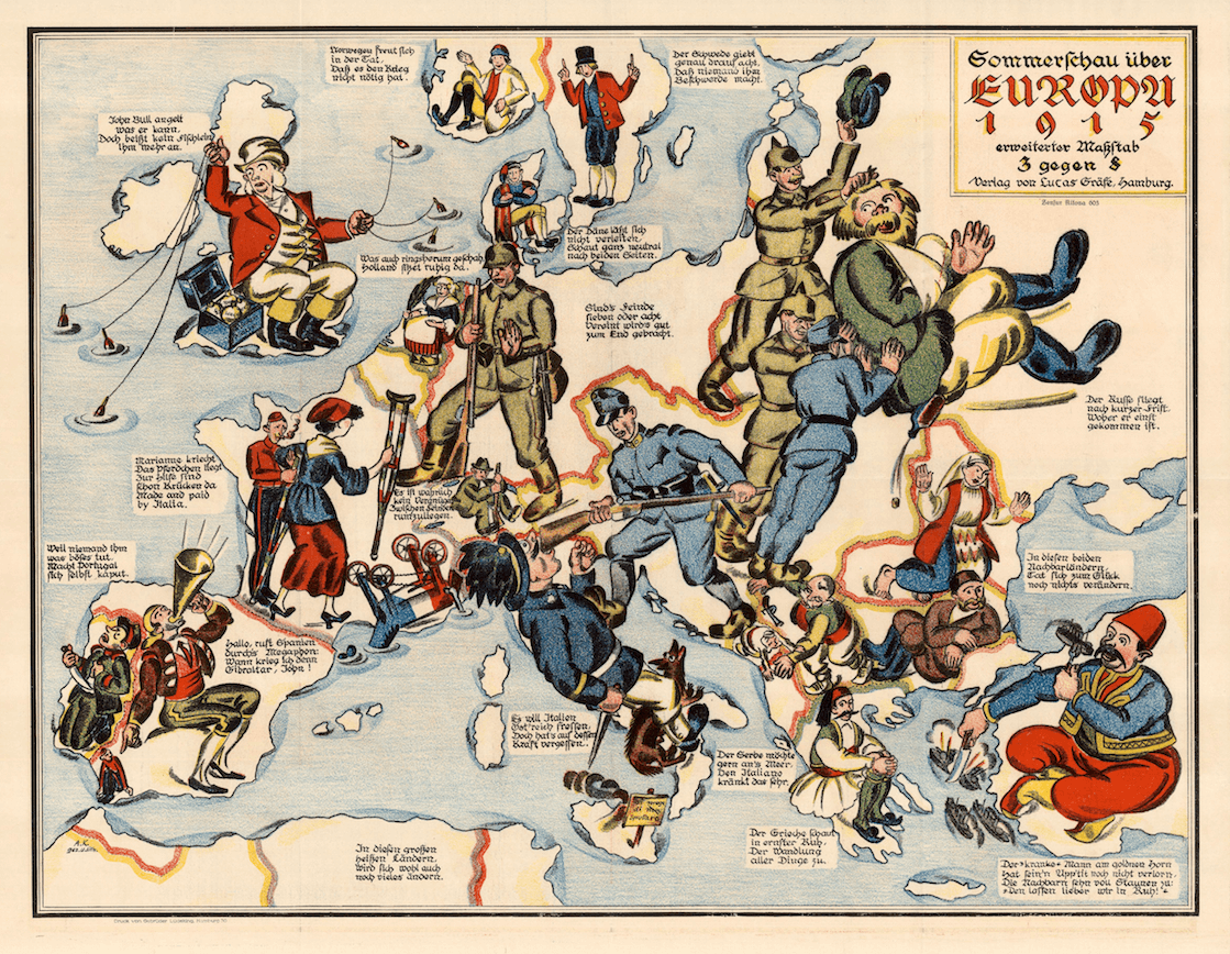 Sommerschau über Europa, 1915  [Summer in Europe in 1915],